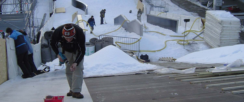 Hochwertiges Eventmaterial von snow+promotion nutzbar für Veranstaltungen mit Schnee