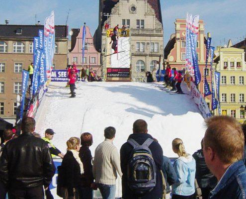 Schneerampen mit echtem Schnee für Sommer und Winter